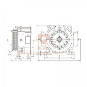 Buy cheap Sn-b1250 Series Elevator Gearless Motor , 1250kg Load Gearless Motor For Elevator from wholesalers