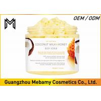 China Deep Exfoliating Skin Care Body Scrub Coconut Milk / Honey Comb Reduces Oiliness wholesale