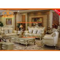 Buy cheap European style antique luxury Living room wooden sofa set designs from wholesalers