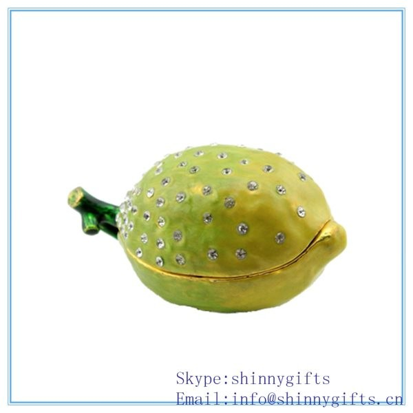 Lemons, 3 Inches, Faux Fruit Box for Decoration Made of Pewter SCJ164 ...