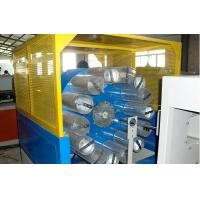 China Double Screw Plastic Extrusion Line , Fiber Reinforced Soft PVC Pipe Extruder Machine wholesale