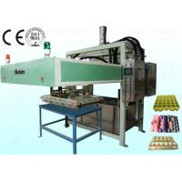 China Semi Automatic Pulp Tray Machine , Eco Paper Moulding Pulp Egg Tray Forming Machine wholesale
