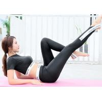 Women Short Sleeve Sportswear Suits Breathable Quick Dry For Fitness / Yoga