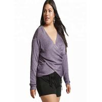 China Purple V Neck Plus Size Clothing 6XL Long Pullover Style Standard Thickness wholesale