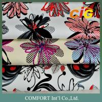China Handle soft Print woven PU Leather For shoes / garment EN SGS ROHS on sale