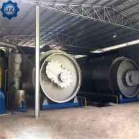China Full Automatic Waste Tyre Recycle To Fuel Oil Pyrolysis Plant Used Tires Recycling Plant wholesale