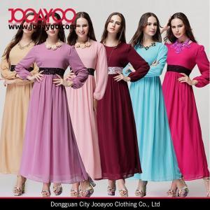 China Women Latest Dresses Designs 2015 Musilim Women Long Chiffon Maxi Dresses wholesale