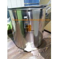 China 220 lb. Stainless Steel Honey Barrel/Tank with Gate Valve wholesale