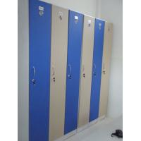China 1 Tier Bule Employee Storage Lockers PVC Material With Master Combination Padlock wholesale