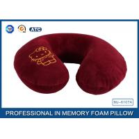 China Cartoon Embroidery Comfortable Memory Foam Travel Neck Pillow Violet / Red / Blue wholesale