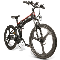 China 26 Inch 21 Speed Mountain Electric Bike 10 Ah Lithium Battery wholesale