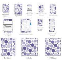 China Business Blank Spiral Bound Index Cards With Mixed Navy Dots organize documents wholesale