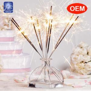China letter shaped sparkler fireworks 70cm golden sparkler for Birthday, wedding, party wholesale