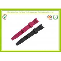 China Fashionable Red Silicone Watch Band with Customized Logo / rubber Watch Strap wholesale