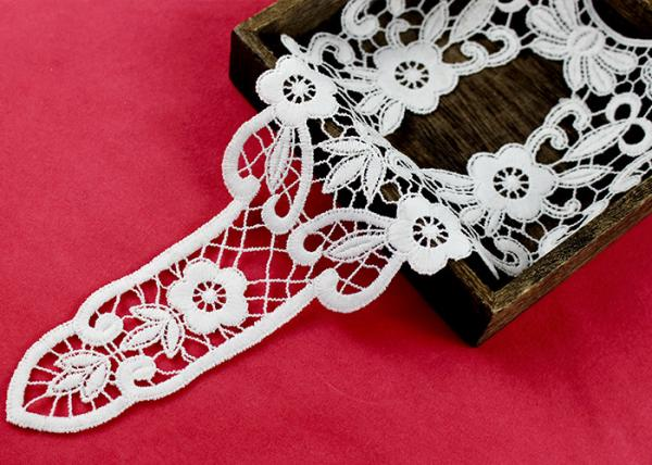 Quality Retro Long Chemical Free Floral Lace Collar Applique For National Costume Cloth for sale