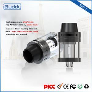 Buy cheap Lightweight Steel Dual Coils E Cigarette Cbd Atomizer Refill E - Liquid 2ml from wholesalers