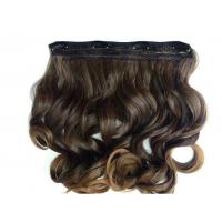 China Heat Friendly Natural Curly Hair Wigs Double Weft Clip In Hair Extensions wholesale