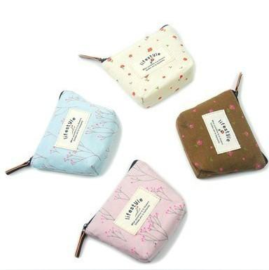 Quality Fashion Printing Flower Flax Small Coin Purse (HS-40) for sale