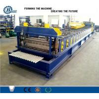 China Steel Automatic Roof Corrugated Roll Forming Machine PLC Control wholesale