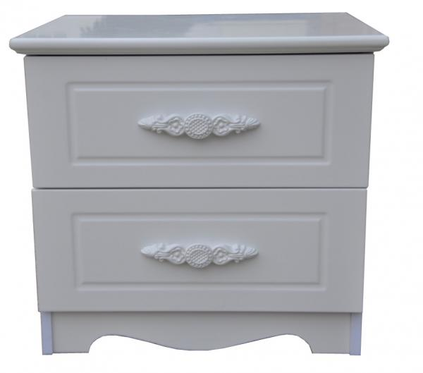 Quality Wireless Charged Narrow 2 Drawer Nightstand Skinny White Bedside Tables for sale