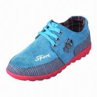 China Men's Casual Shoe, Made of PU Upper and Rubber Outsole Materials, OEM Orders Available  on sale