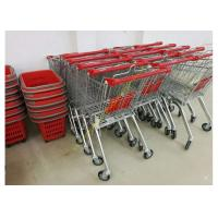 China OEM Euro Style Metal Supermarket Four Wheels Shopping Trolley For Store wholesale