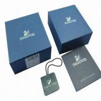 China Garment Box, Made of 157gm Copper Paper/Art Paper Mounted 1000g Gray Board wholesale
