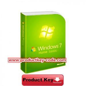 China Windows 7 Product Key Codes, Download Windows 7 Home Basic FPP Activation Key wholesale