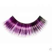 China Fashion carnival colorful combined layers synthetic fibre party eyelashes wholesale