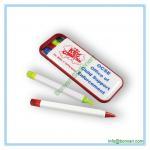 China plastic combo pen set, ball pen, highlighter ,mechanical pencil, pen box set wholesale