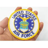 China Air Force Military Style Patches Full Embroidered With Iron On Backing on sale
