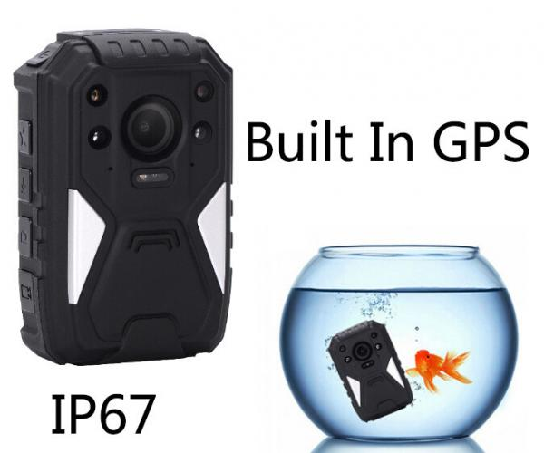 Quality HD 1296P IP67 Police Body Worn Wearable Video Camera With Infrared Night Vision for sale