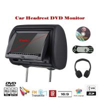 China Pillow TFT LED Car Headrest DVD Monitor Custom Made Language Menu Remote Control on sale