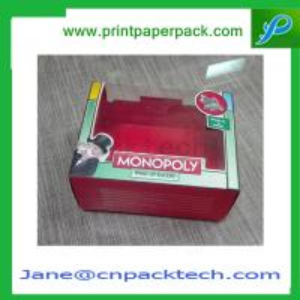 China Custom Printed PVC Window Box Toy Box Candy Box Rigid Cardboard Paper Gift Box on sale