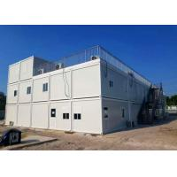 China Three Layers Storage Container Houses , Cargo Storage Containers With Open Balcony on sale