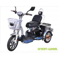 China 48V 350W/500W Electric Mobility Scooter , 3 Wheel Electric Bike For Two Passengers wholesale