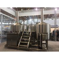 China SUS 304 7Bbl Large Scale Brewing Equipment Semi Automatic Control System wholesale
