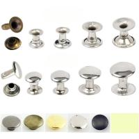 China Factory outlet 5mm-12mm double side brass Stainless steel iron mushroom or caps tube rivet for handbag jeans cloth shoes on sale