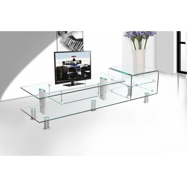 Modern Bent Glass Tv Stand For Glass Furniture Tempered Glass Tv Cabinets Of Sarahbeauty
