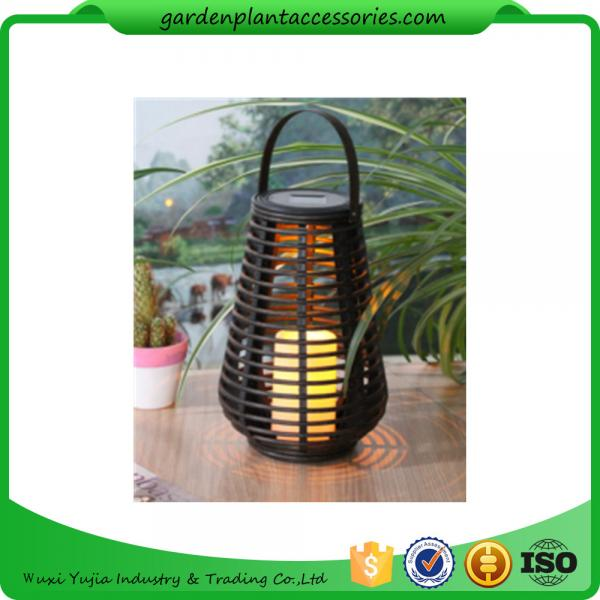 Quality Exterior Rattan Solar Lights , Solar Powered Yard Lights With 2V / 40MA Solar Panel for sale