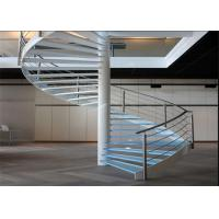 China Carbon Steel Glass Custom Spiral Staircase Customized Size DIY Installation on sale