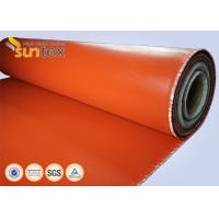 China Red Fire Resistant Silicone Coated glass cloth fabric For Expansion Joint High Strength wholesale