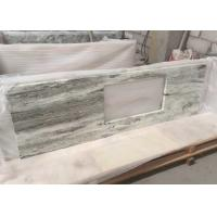 China Multi Color Green Marble Stone Countertops , Marble Kitchen Countertops CE Certification wholesale