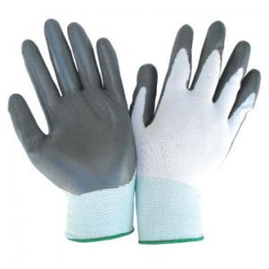 China interlock lining latex coated gloves with orange crinkle fully coated wholesale