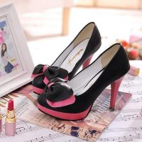 China 10cm high heel shoes with PU leather wholesale