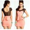 China Fashionable Cap Sleeve Casual Womens Dresses Pink Washable wholesale
