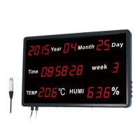 Buy cheap Time Date Digital Thermometer And Hygrometer With Wall - Mounted Big LED Screen Dispaly from wholesalers