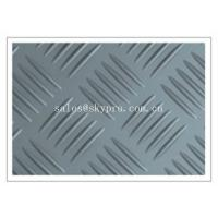 China Durable Anti-slip checker pattern 3mm - 6mm thick recycled rubber mats flooring on sale