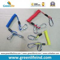 China Customized Carabiner Colorful Tool Coiled Tether Cords wholesale