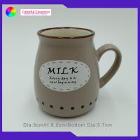 China Personalized Stoneware Coffee Mugs Special Shape Large Stoneware Mugs on sale